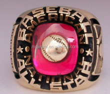 Special design baseball state championship rings gold plated
