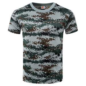 Trendy camouflage men t shirt wholesale design Army raglan camo long sleeve t shirts olive green blank military t-shirt