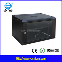 Wall mounted 9u network server cabinet