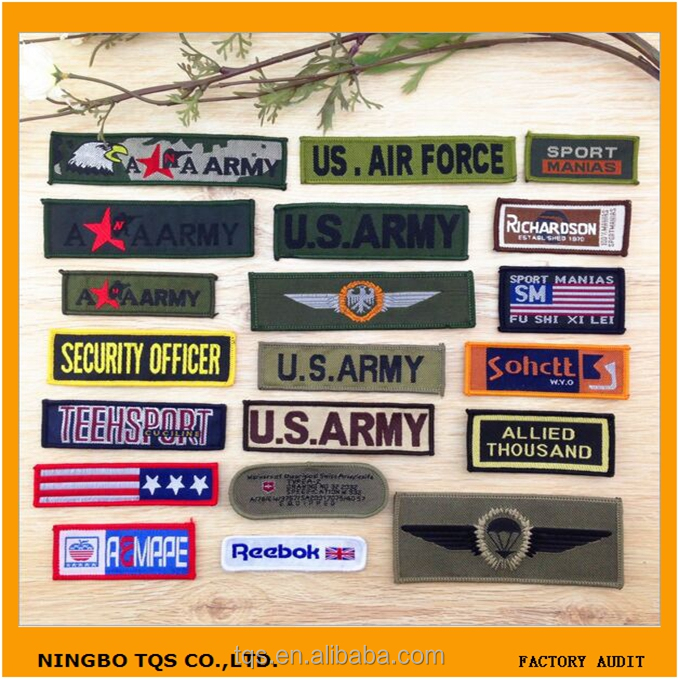 Hot Sale Wholesale Adhesive Clothing Textile Embroidery Military Patches