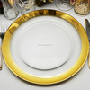 Cheap Wedding Elegant Glass Charger Plates Wholesale