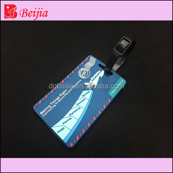 Wholesale airline clear plastic luggage tags rubber luggage tags