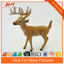 Lifelike realistic mini plastic deer toy small plastic toy deer for sale