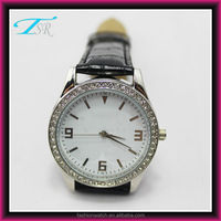 New Arival Fashion vintage leather quartz watch,top fashion stone diamond watches,high quality leather strap watch