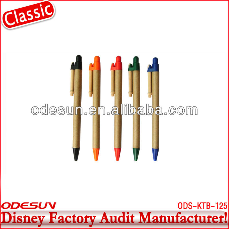 Disney factory audit manufacturer's eco recycled pen 143063