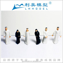 Architectural scale models painted Arab human figures for model train layout / Ho scale miniature human people