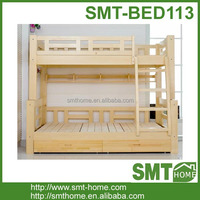 latest bedroom furniture designs pine wood bunk bed