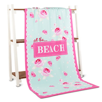 Sex Animal And Woman Sublimation Promotional Beach Towel