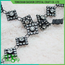 Fashion square model crystal rhinestone trimming sewing accessories for clothing