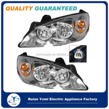 Car Headlights Headlamps w/ Amber Signal Left & Right Pair Set for 05-10 for Pontiac G6 GM2503255 GM2502255