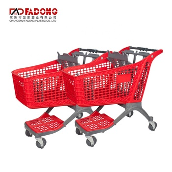 Plastic Shopping Trolley Cart 135l Plastic Shopping Trolley for Supermarket