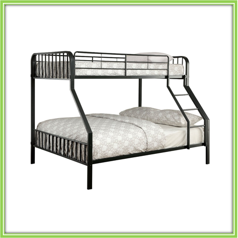 Metal sofa bunk bed Twin over Twin Convertible Metal Bunks