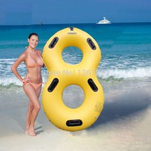 Heavy-duty inflatable double water park tube, inflatable water slide tube