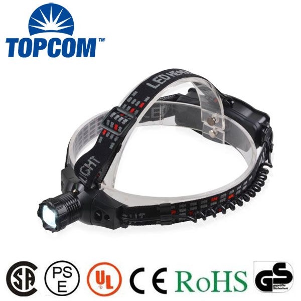 Q5 led 3 mode rechargeable zoom led head lamp most powerful flashlight headlamp