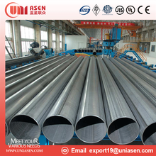China Manufacturer ERW Welded Steel Tube JIS G3444 Structural Steel Pipe for building material