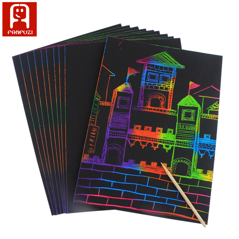 factory price drawing magic color scratch art paper for children creative toy