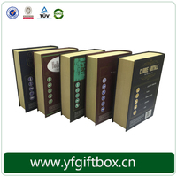 Custom printed paper cardboard book shape box with magnetic catches