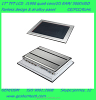 2015 bulk buy from china industrial fanless pc with 15 inches touch screen
