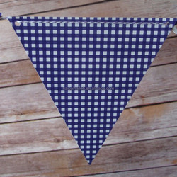 Blue Grid Bunting Flag Banner 3 metres Length Adult Birthday Party decoration