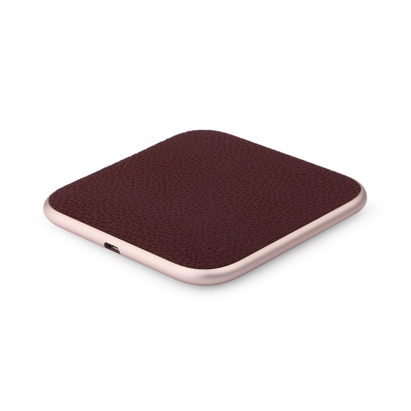New square Fast Good quality aluminum Acrylic Wireless charger for iphone Sumsang Xiao mi