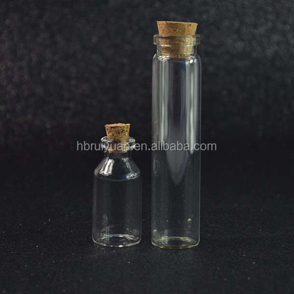 Cheap Mini Clear Wishing Message Glass Bottles Vials With Cork Small jar
