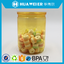 500ml yellow coloured safety custom sealed packaging plastic empty food cans