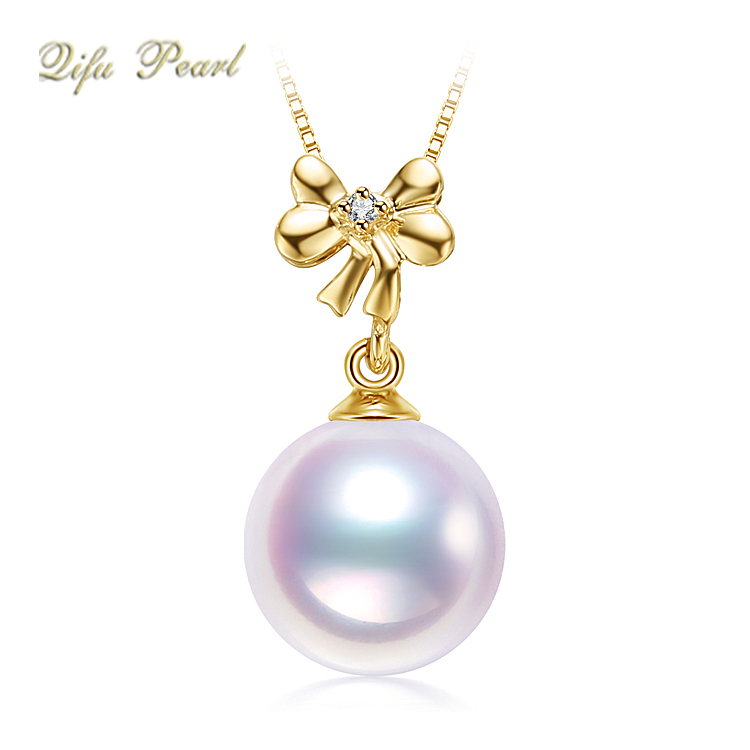 Fashionable bowknot shape diamond pendant Saudi gold jewelry