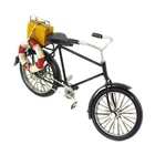 Metal Crafts Vintage Bicycle Model Handmade Classic Luggage Backside Bike Toy Home Desktop Decoration Kid Girl Birthday Gift