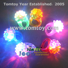 Light up LED Flashing Jelly Bumpy Rings