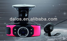 direct factory hd car dvr 2 camera X10 with dual lens IR Night Vision