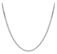 0.8mm Wholesale silver box chain necklace Silver Box Venice Necklace Chains With Lobster Clasps cheap necklace chains
