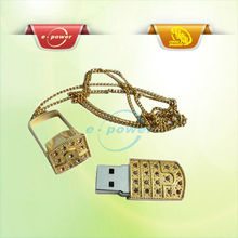 E-Power Golden Attractive Metal USB Stick Flash Pen Drives 4GB U224