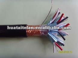 PVC insulation paired copper wire braided individual sheilded and overall shielded PVC sheathed computer cable