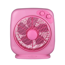 XIANGLI OEM 10 inch cheap fashion red box fan Household Electric Fans with 5 blades 3 speed 1hour timer