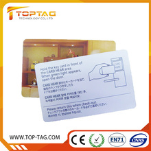 Plastic PVC RFID hotel key card, Magnetic key card suitable with major guestroom locking system