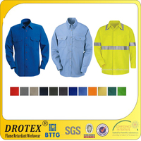 UL certificated 7oz~8oz cotton Flame retardant safety shirt clothing for danger works