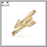 Fashion 925 Silver Stackable Gold Vermeil Cupids Arrow Thin ring