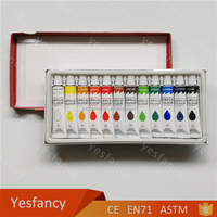 Eco-Friendly 12 colors acrylic fabric craft paints colors