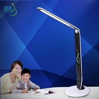 DC12V office led desk lamps with calendar and clock, foldable led lamp for reading and studying