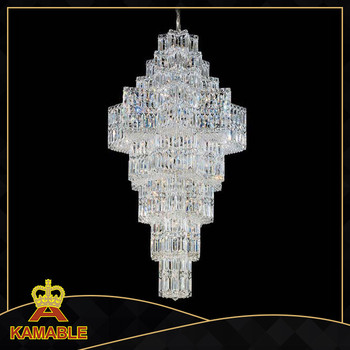 Hotel project crystal decoration ceiling chandelier pendant lighting
