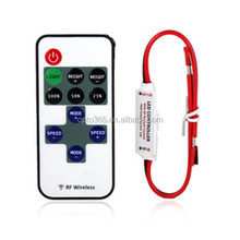 Remote Control Dimmer DC 12V 11Keys Mini Wireless RF LED Controller for LED Strip Light SMD 5050 / 3528