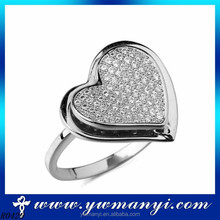 Factory direct new Korean exquisite full diamond one heart diamond ring American quality R0429