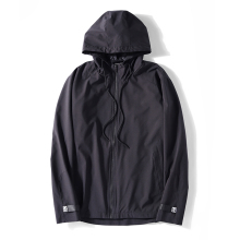 Wholesale <strong>Mens</strong> fashion brand thin double zipper <strong>jacket</strong> hooded side zipper black bomber <strong>jacket</strong>
