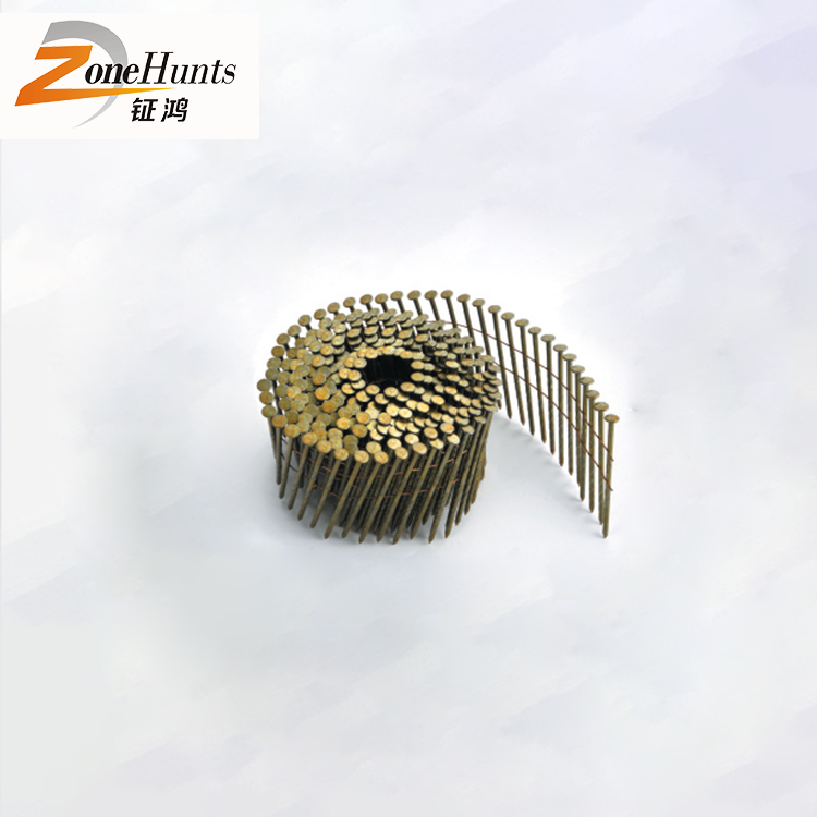 Wholesale furniture staple china smooth shank round head roof screw wire pallet coil nail