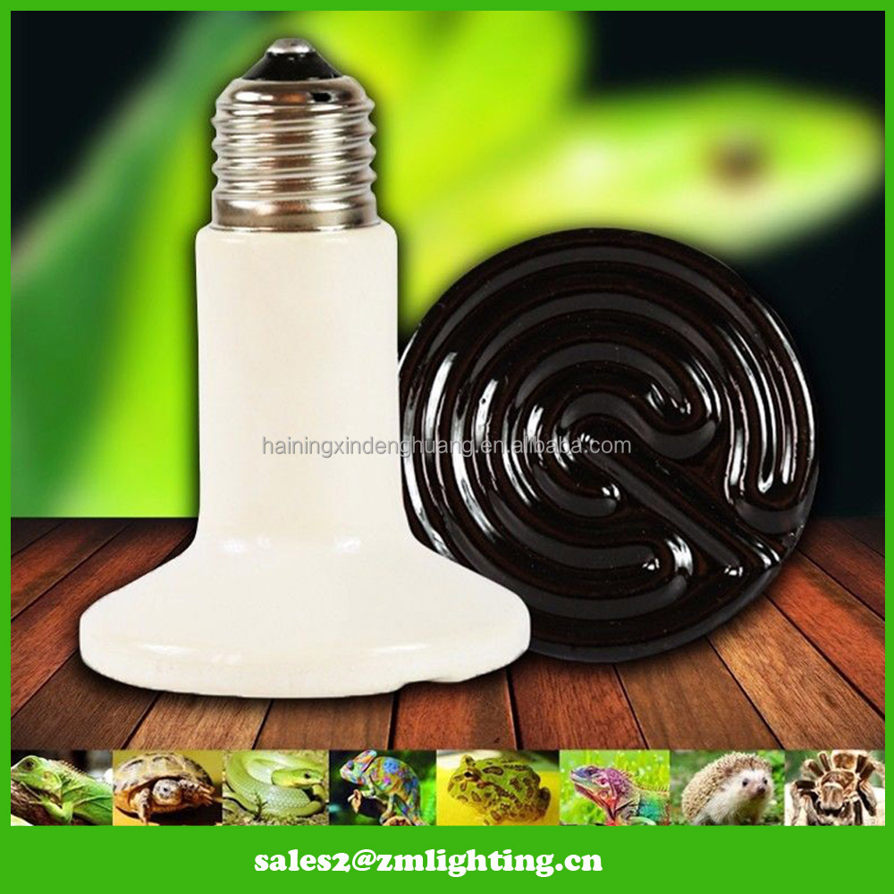 Factory high quality Far infrared poultry warmer ceramic heater emitter lamp 25w 50w 75w 100w 150w 200w