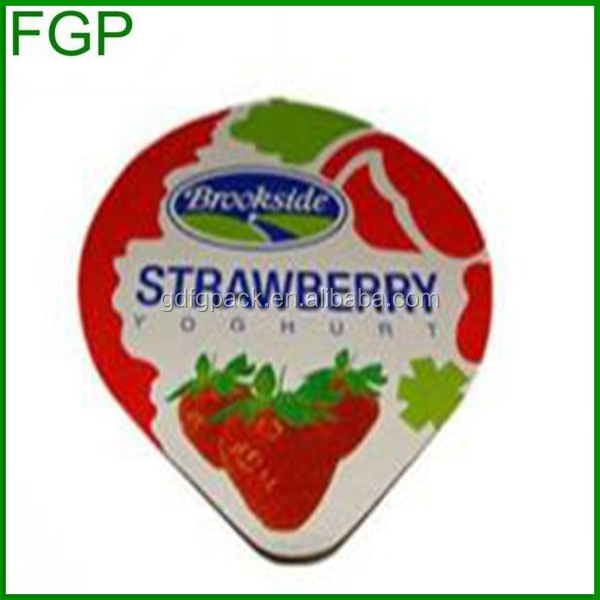 Guangdong factory supply soft temper and die cut piece type yogurt cup aluminium foil lid
