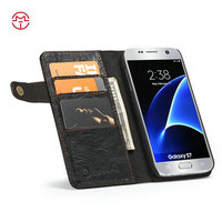 Wholesale Mobile Phone For Samsung Galaxy S7 Wallet Cover Luxury Magnetic Flip Leather Case With Card Slots