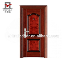 Commercial double hinged exterior steel door