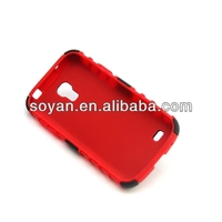 Wholesale 2013 newest products, 2 in 1 hybrid cases for Samsung Galaxy S4 mini i9190, Hybrid cases with stand function