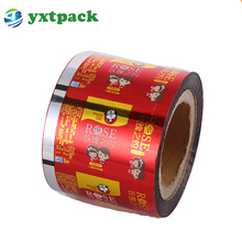 Hot Selling PET/VMPET/PE laminating snack nut packaging food grade plastic film roll